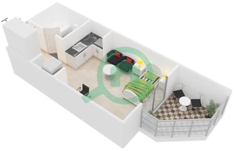 المخططات الطابقية لتصميم النموذج / الوحدة TC/08,25 شقة  - مونتريل من عزيزي