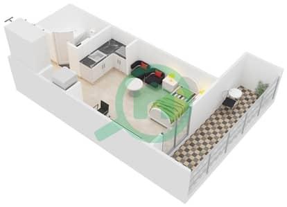 المخططات الطابقية لتصميم النموذج / الوحدة PO/16,17 شقة  - مونتريل من عزيزي