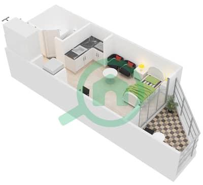 المخططات الطابقية لتصميم النموذج / الوحدة PC/08,25 شقة  - مونتريل من عزيزي
