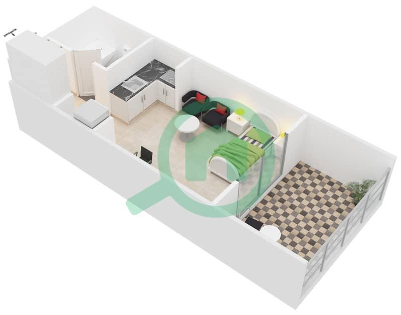 المخططات الطابقية لتصميم النموذج / الوحدة PB/07,26 شقة  - مونتريل من عزيزي image3D