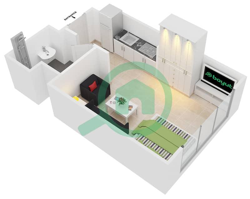 المخططات الطابقية لتصميم النموذج 2 شقة  - عزيزي بيرل Floor 1-7 image3D