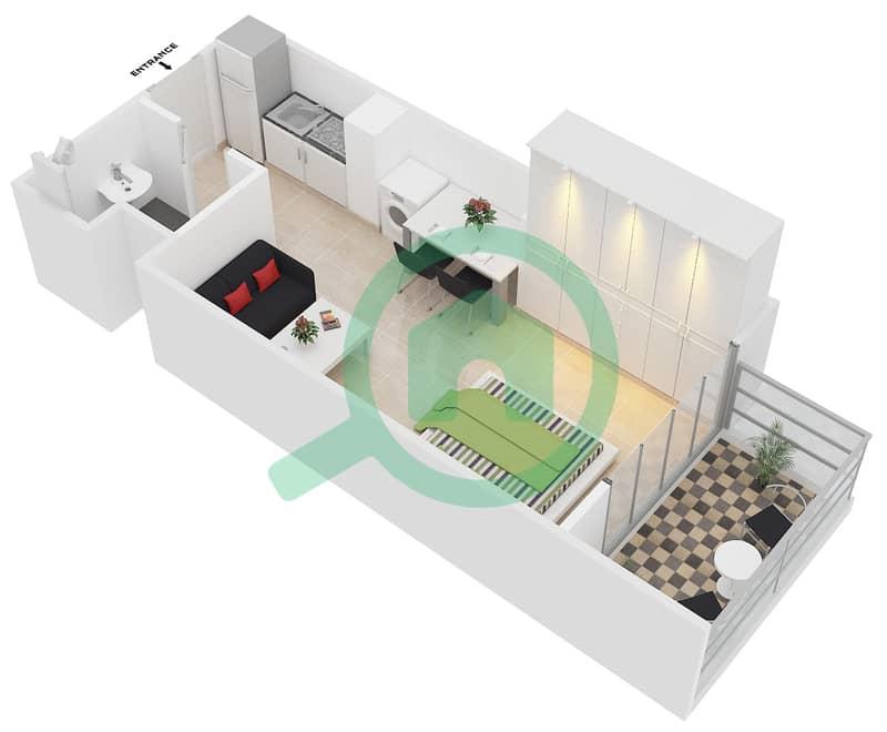 المخططات الطابقية لتصميم النموذج 1 شقة  - عزيزي بيرل Floor 1-7 image3D