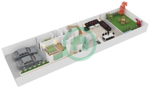 المخططات الطابقية لتصميم النموذج 2 تاون هاوس 4 غرف نوم - دريمز من دانوب