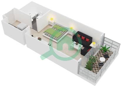 Al Manara Tower - Studio Apartment Unit 8 FLOOR 2-26 Floor plan