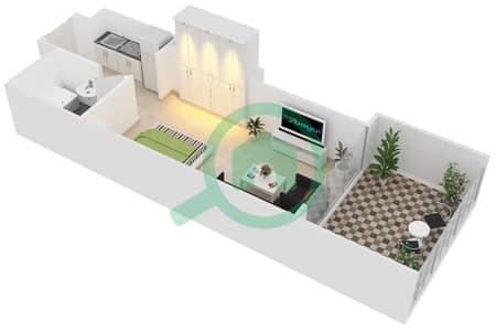 Al Manara Tower - Studio Apartment Unit 2 FLOOR 1 Floor plan