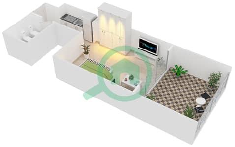 Al Manara Tower - Studio Apartment Unit 1 FLOOR 1 Floor plan