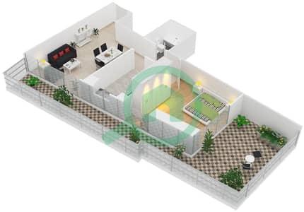 Al Manara Tower - 1 Bedroom Apartment Unit 3 FLOOR 1 Floor plan