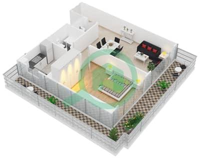 Al Manara Tower - 1 Bedroom Apartment Unit 7 FLOOR 1 Floor plan