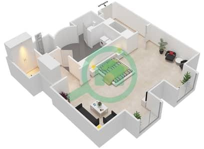المخططات الطابقية لتصميم النموذج 7 شقة  - بالازو فيرساتشي