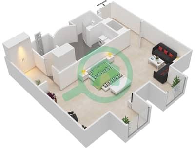المخططات الطابقية لتصميم النموذج 6 شقة  - بالازو فيرساتشي