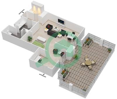 المخططات الطابقية لتصميم النموذج 3 شقة  - بالازو فيرساتشي
