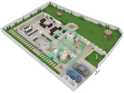 المخططات الطابقية لتصميم النموذج V-7 فیلا 6 غرف نوم - ذا فيلد