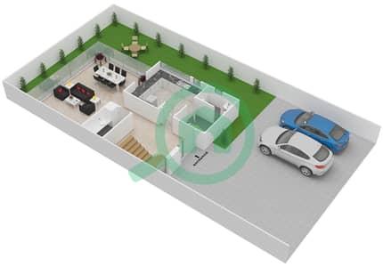 المخططات الطابقية لتصميم النموذج M فیلا 3 غرف نوم - روكوود