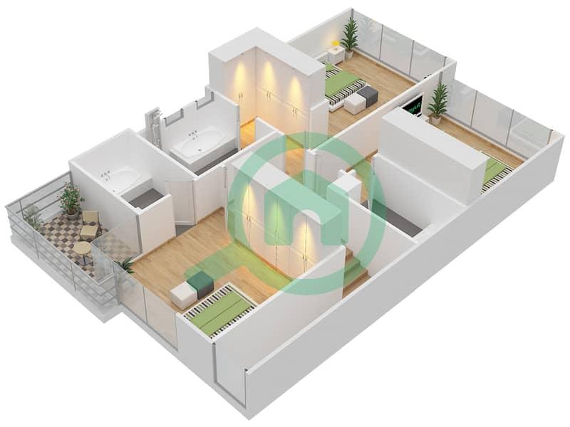 Rockwood - 3 Bedroom Townhouse Type M/M-D Floor plan First Floor image3D