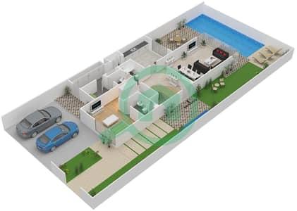 المخططات الطابقية لتصميم النموذج A تاون هاوس 5 غرف نوم - روتشستر