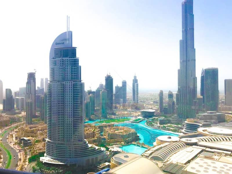 10 Burj and Fountain Views | 3BR+M Apartment in Downtown