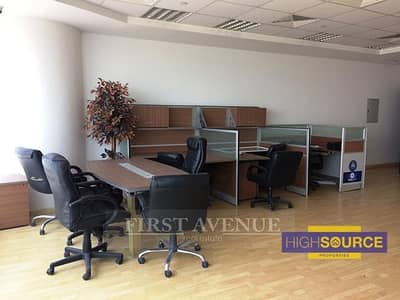 Office for Rent in Business Bay, Dubai - Semi Furnished-Fitted Office-Pantry & Store Room-Stable View.