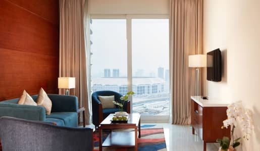 2 Bedroom Hotel Apartment for Rent in Dubai Sports City, Dubai - 2 Bedroom|with Balcony|Monthly*