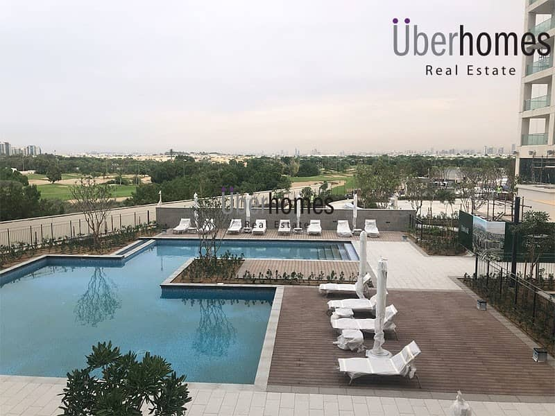 Stunning 3BR full golf course /pool view