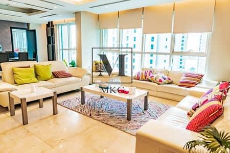 شقة 4 غرفة نوم للايجار في دبي مارينا، دبي - Amazingly fully furnished penthouse vacant