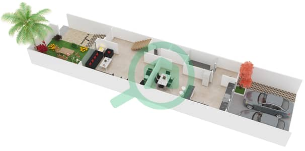 المخططات الطابقية لتصميم الوحدة 3 فیلا 4 غرف نوم - إنديجو فل