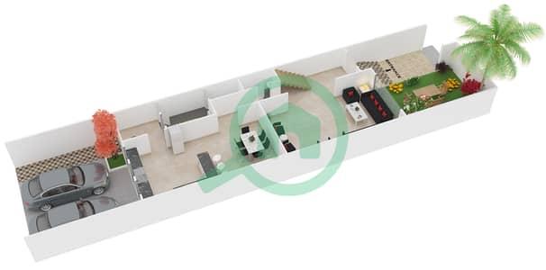 المخططات الطابقية لتصميم الوحدة 2 فیلا 4 غرف نوم - إنديجو فل