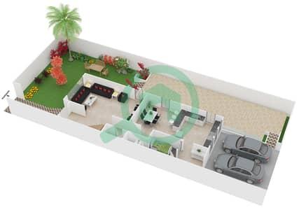 المخططات الطابقية لتصميم الوحدة 1 فیلا 4 غرف نوم - إنديجو فل