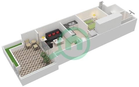 المخططات الطابقية لتصميم الوحدة G11 شقة  - كابودوشا