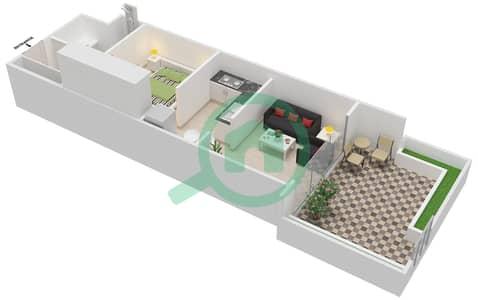 المخططات الطابقية لتصميم الوحدة G04 شقة  - كابودوشا