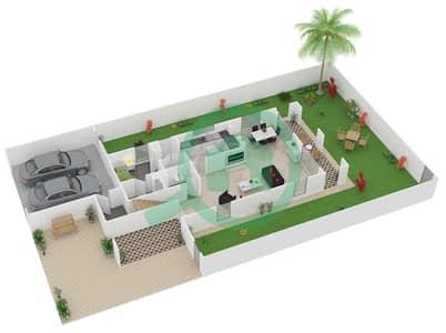 المخططات الطابقية لتصميم النموذج 1 فیلا 3 غرف نوم - فيلانوفا