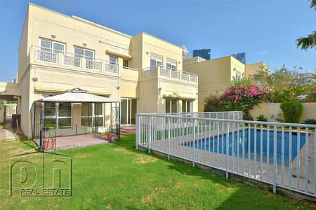 5 Bedroom Villa for Rent in The Meadows, Dubai - Type 7 | Lake View | Private Pool | Vacant