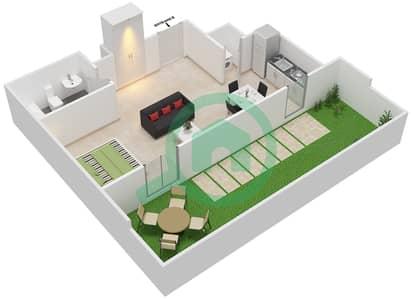 المخططات الطابقية لتصميم النموذج D شقة  - الزاهية