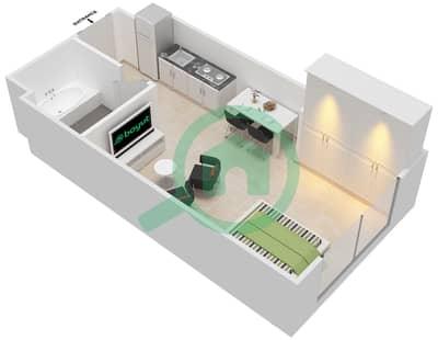 Al Zahia - Studio Apartment Type E Floor plan