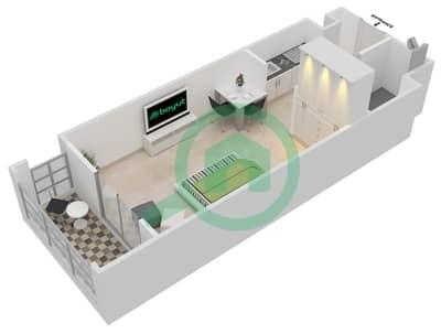 المخططات الطابقية لتصميم النموذج 1 شقة  - ميلانو جيوفاني بوتيك سوتس
