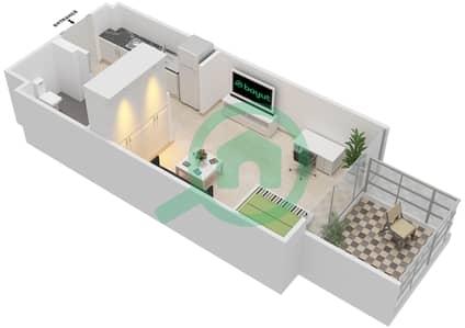 المخططات الطابقية لتصميم النموذج / الوحدة 1B/06 شقة  - شايستا عزيزي