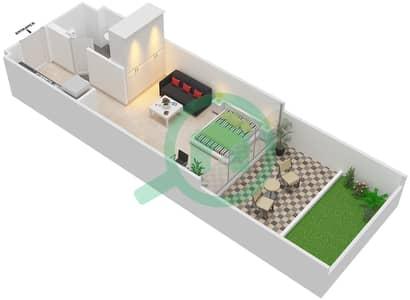 Shaista Azizi - Studio Apartment Type/unit 1B - 04 Floor plan