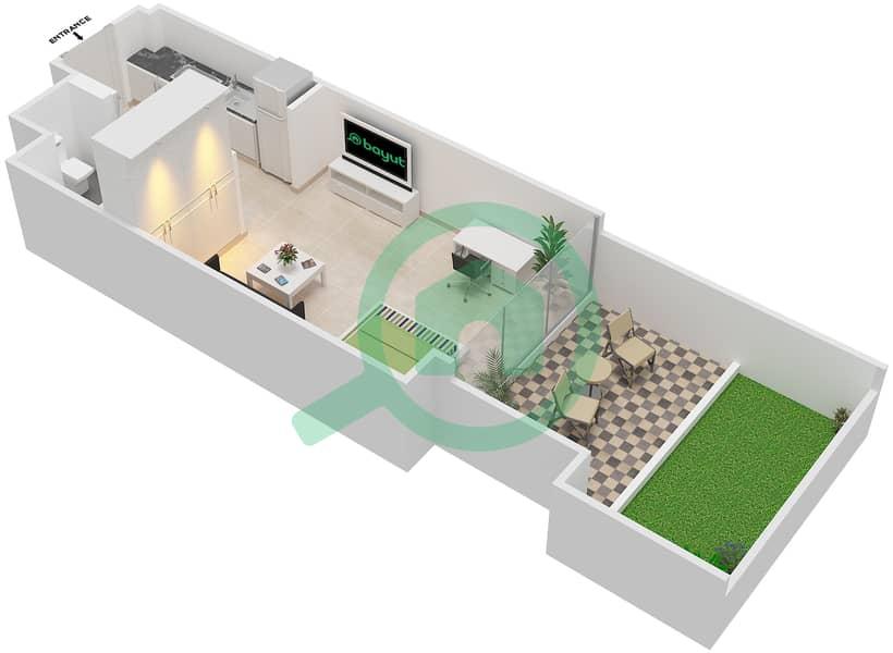 المخططات الطابقية لتصميم النموذج / الوحدة 1A/03 شقة  - شايستا عزيزي Floor 1 image3D