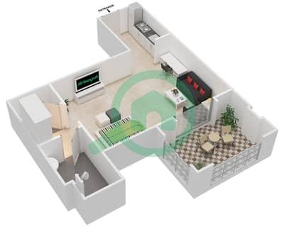 المخططات الطابقية لتصميم النموذج C-ANSAM 2,3 شقة  - أنسام