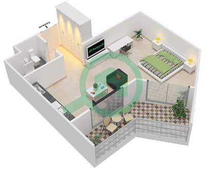 المخططات الطابقية لتصميم النموذج B-ANSAM 1 شقة  - أنسام