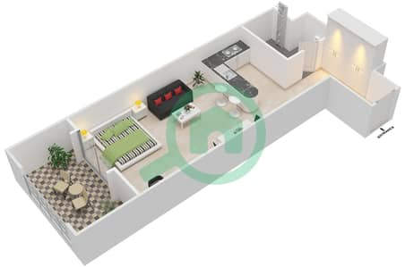المخططات الطابقية لتصميم النموذج B-ANSAM 2,3 شقة  - أنسام