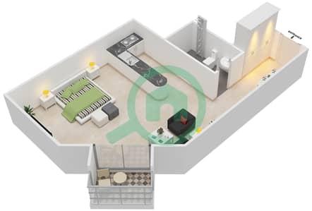 المخططات الطابقية لتصميم النموذج B-ANSAM 4 شقة  - أنسام