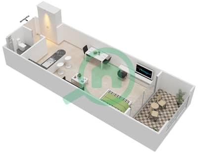 المخططات الطابقية لتصميم النموذج A-ANSAM 1 شقة  - أنسام