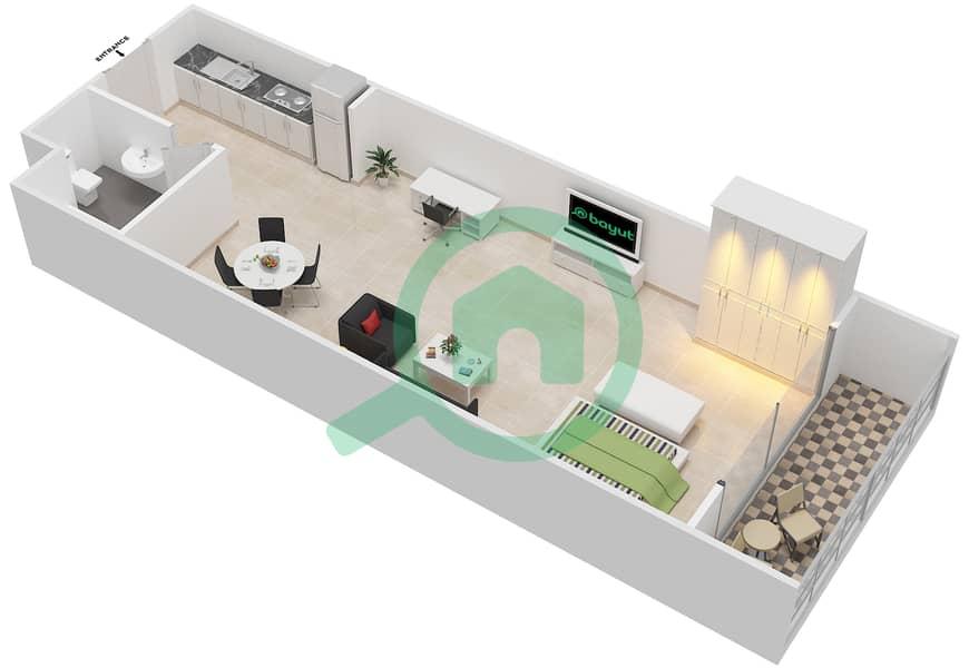 المخططات الطابقية لتصميم الوحدة 20 SIENA 1 شقة  - توسكان ريزيدنس Second Floor image3D