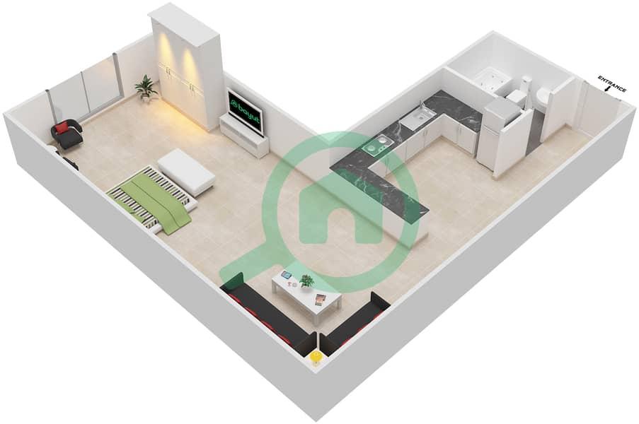المخططات الطابقية لتصميم الوحدة 16 SIENA 1 شقة  - توسكان ريزيدنس Second Floor image3D