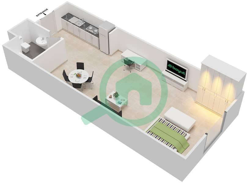 المخططات الطابقية لتصميم الوحدة 14 SIENA 1 شقة  - توسكان ريزيدنس Second Floor image3D