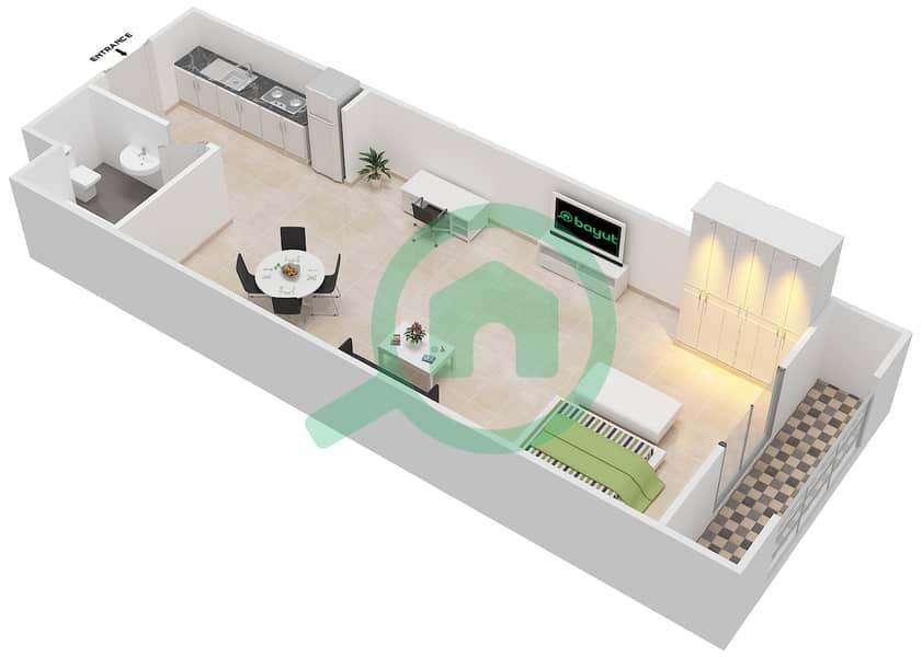 المخططات الطابقية لتصميم الوحدة 7  SIENA 1 شقة  - توسكان ريزيدنس Second Floor image3D
