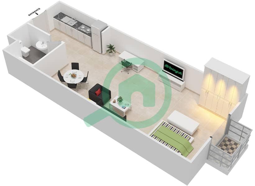 المخططات الطابقية لتصميم الوحدة 5 FLOOR 1 شقة  - توسكان ريزيدنس Floor 1 image3D