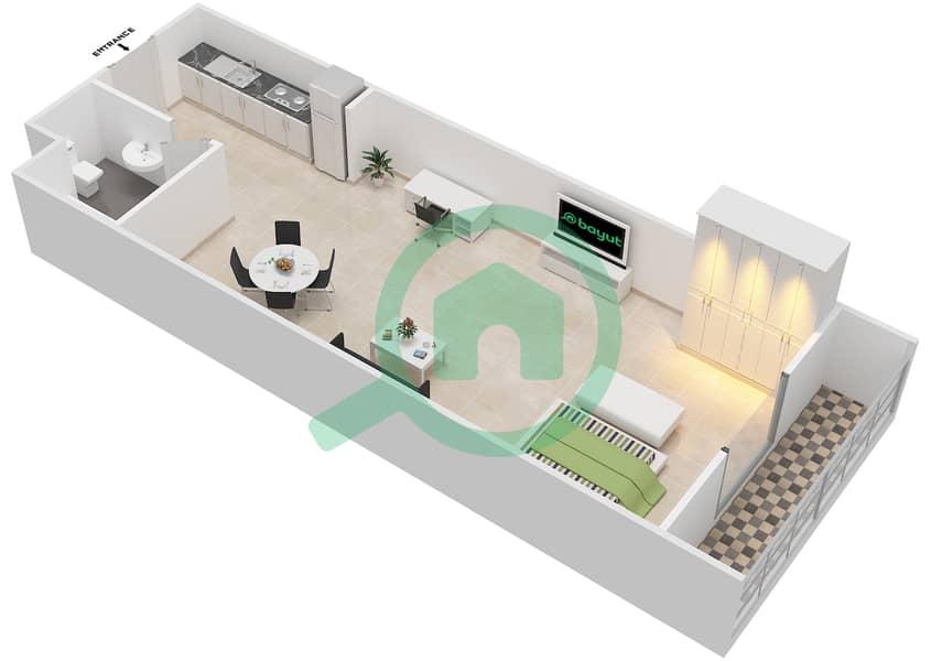 المخططات الطابقية لتصميم الوحدة 7 AREZZO 1 شقة  - توسكان ريزيدنس Second Floor image3D