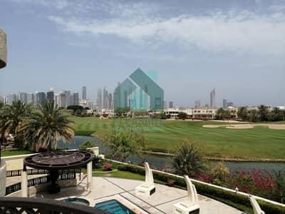 فیلا 5 غرفة نوم للايجار في تلال الإمارات، دبي - Full Lake View | 5 Br + 2 Maids + Driver + Pvt. Pool |