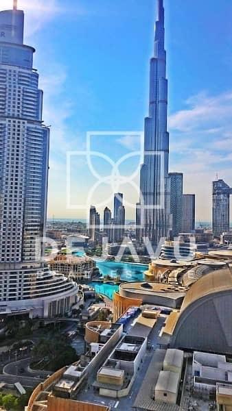 2 Bedroom Flat for Rent in Downtown Dubai, Dubai - Burj Khalifa view 2 beds in Address fountain view